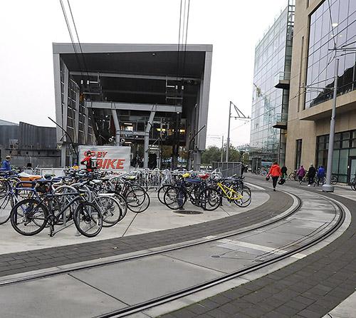 Aerial Tram bike racks