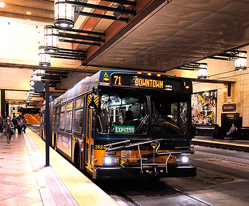 Bus in Seattle Transit Tunnel