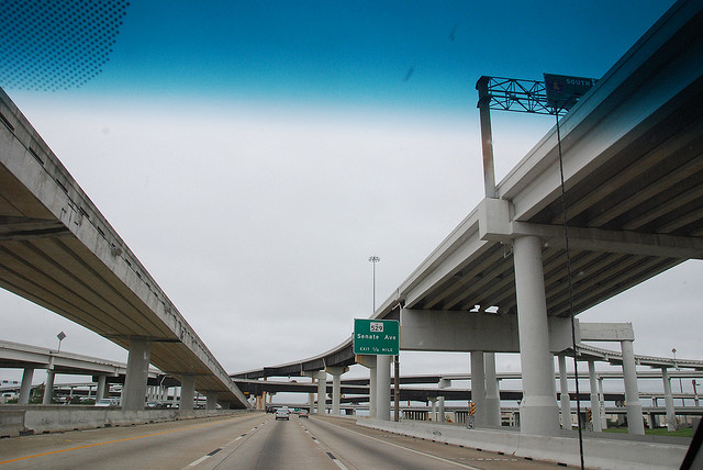 Highway 288 north toward Houston