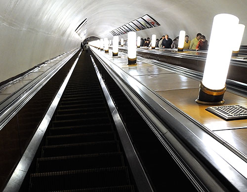 Moscow Metro escalators