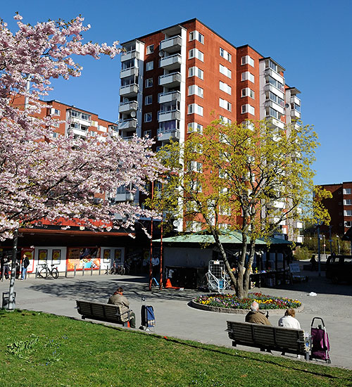 Housing near the Akalla station in Stockholm, Sweden