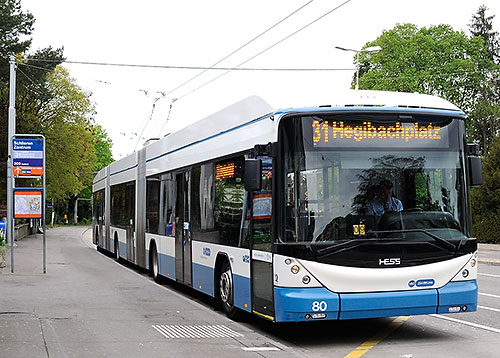 31 bus in Zurich