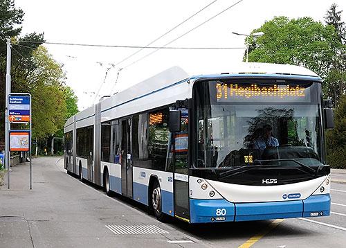 31 bus in Zurich