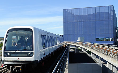Copenhagen Metro arrives at DR Byen station