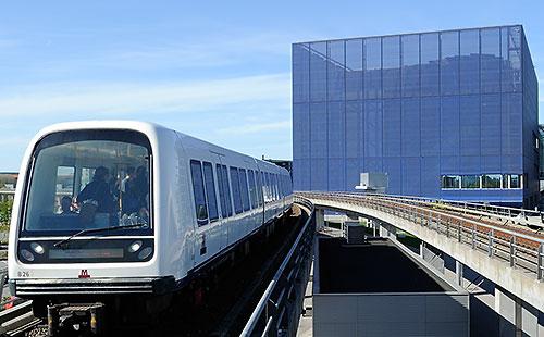 Copenhagen Metro arrives at DR Byen station