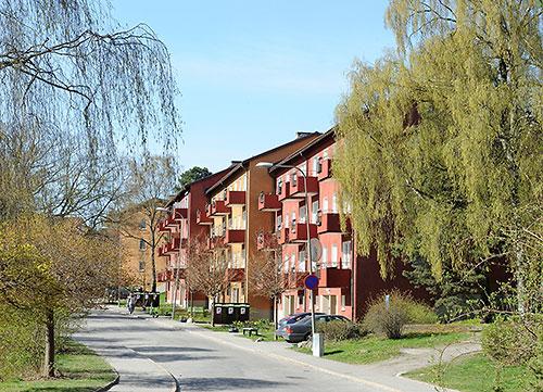 Housing near the Hägerstensåsen T-Bana station in Stockholm, Sweden