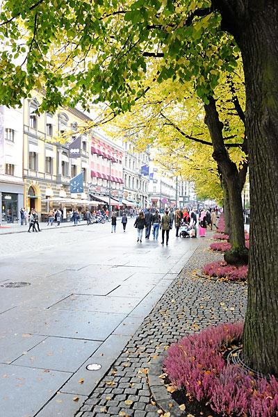 Johan's Gate pedestrian street in Oslo