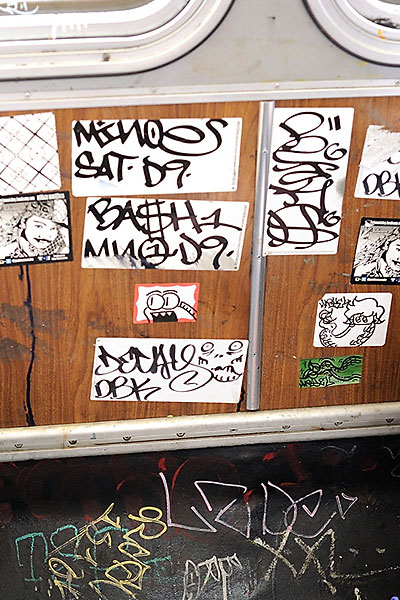 Graffiti in 14 bus in 2013