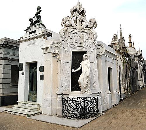 Tomb of Rufina Cambaceres at Cementerio de la Recoleta in Buenos Aires