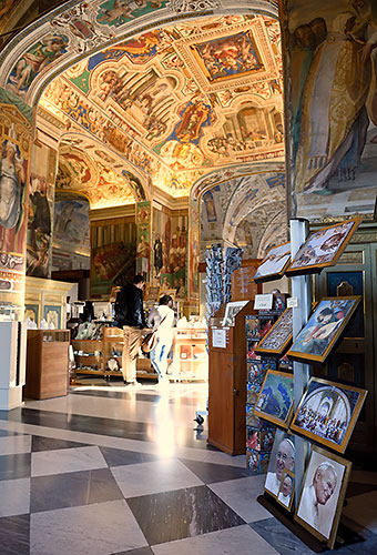 Gift shops in the Vatican Museums