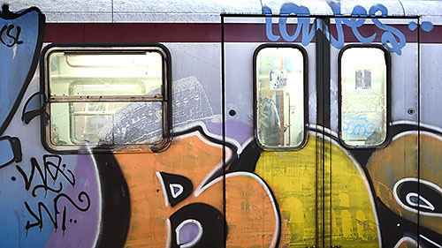 Graffiti on Rome Metro