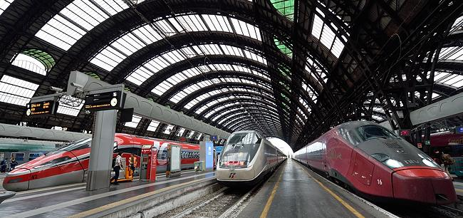 Trains at Milano Centrale
