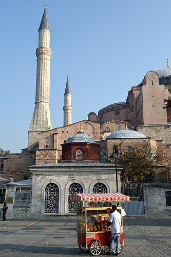 Vendor near Hagia Sofia in Istanbul
