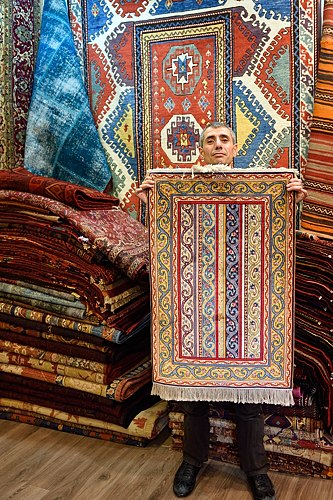 Rug merchant near Grand Bazaar in Istanbul