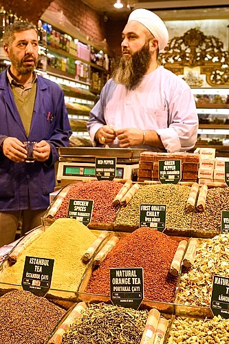 At the Spice Bazaar in Istanbul