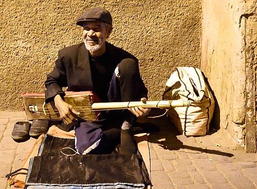 Musician in Marrakech Medina