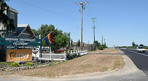 Unitarian Church in Modesto, California
