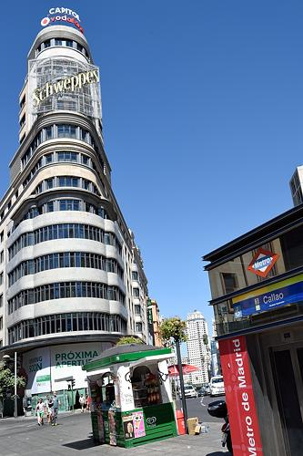 Madrid Metro Callao station on Gran Via