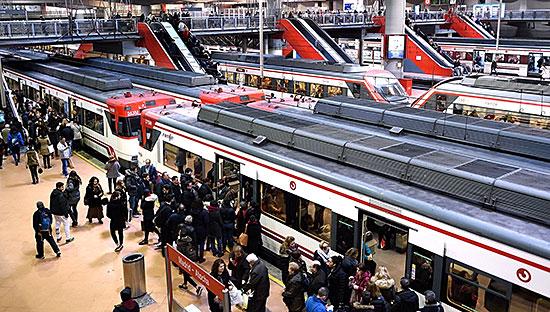 Cercanias platform at Atocha Renfe station