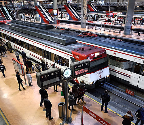 Cercanías platform at Madrid Atocha station