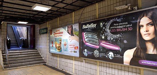 Piața Romană metro station in Bucharest, Romania