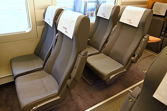 'Turista' seating on Renfe train in Spain