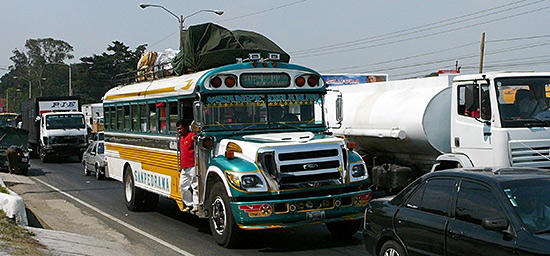 Chicken Bus in Guatemala City / CC BY-NC 2.0 by Catherine Todd