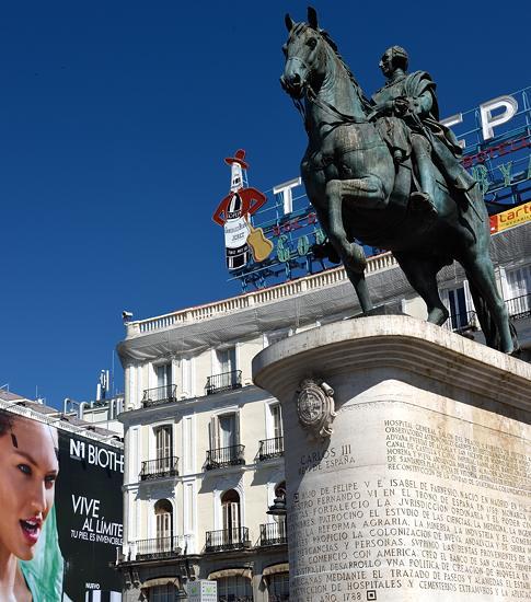Carlos III statue at Puerta del Sol