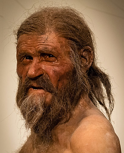 Ötzi the Iceman portrait; CC-BY-SA-3.0-by-Thilo-Parg