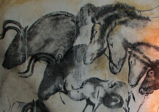 Replica of Chauvet cave paintings