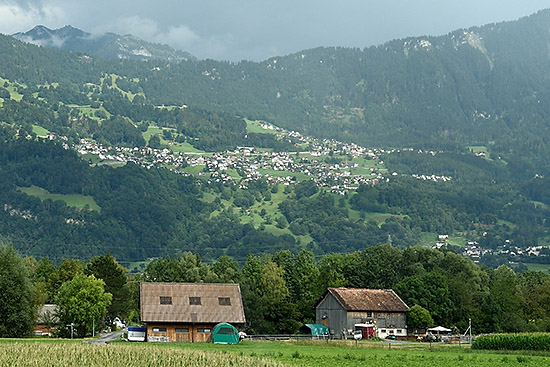 Between Zurich and Chur on IR 13 train   Copr. © 2019 by Tim Adams, Creative Commons CC BY 2.0
