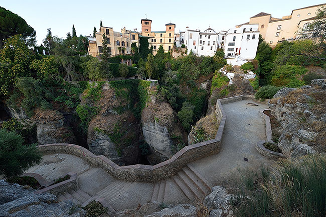 View from Jardines de Cuenca in Ronda, Spain