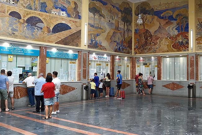 Prado S.S. bus station in Sevilla, Spain