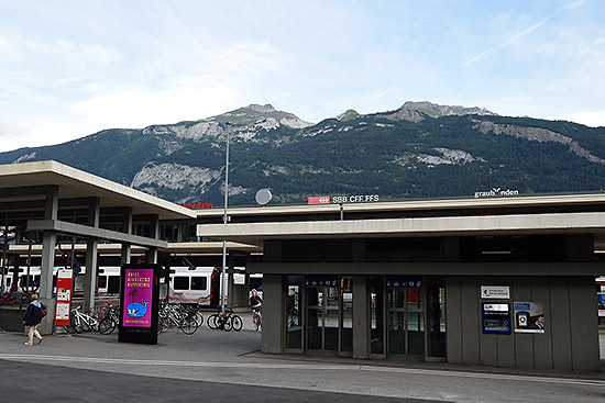 Chur, Switzerland train station | Copr. © 2019 by Tim Adams, all rights reserved