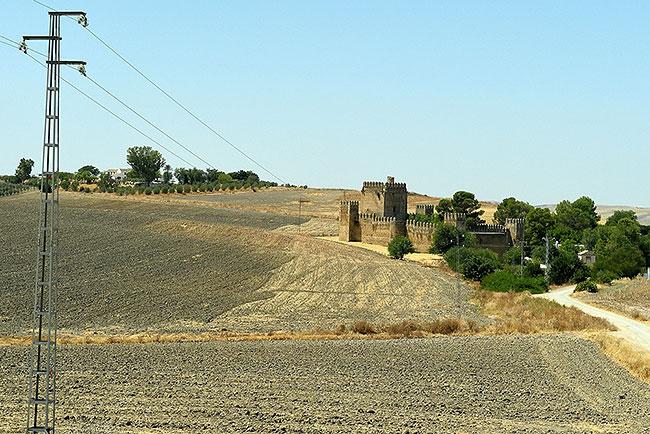 Castle seen between Sevilla and Ronda in Spain
