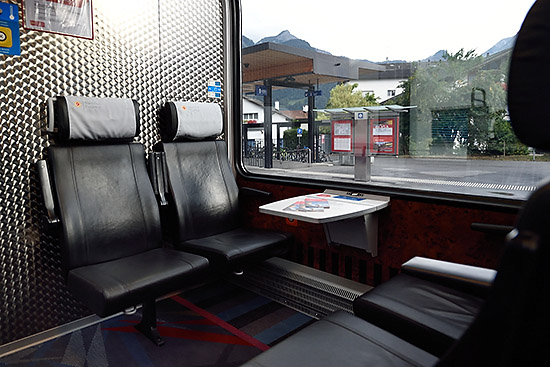Interior of the Bernina Express | Copr. © 2019 by Tim Adams, Creative Commons CC BY 2.0