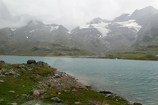 Near the summit of the Bernina Express route   Copr. © 2019 by Tim Adams, Creative Commons CC BY 2.0