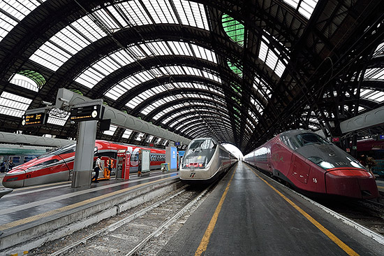 Trains at Milano Centrale in Milan, Italy   Copr. © 2019 by Tim Adams, all rights reserved