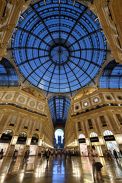 Galleria Vittorio Emanuele II in Milan, Italy   Copr. © 2019 by Tim Adams, all rights reserved
