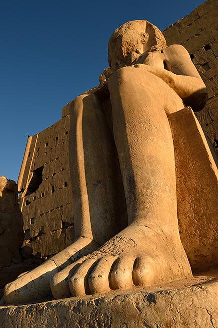 Karnak statue | Copr. 2019 by Tim Adams CC by 2.0