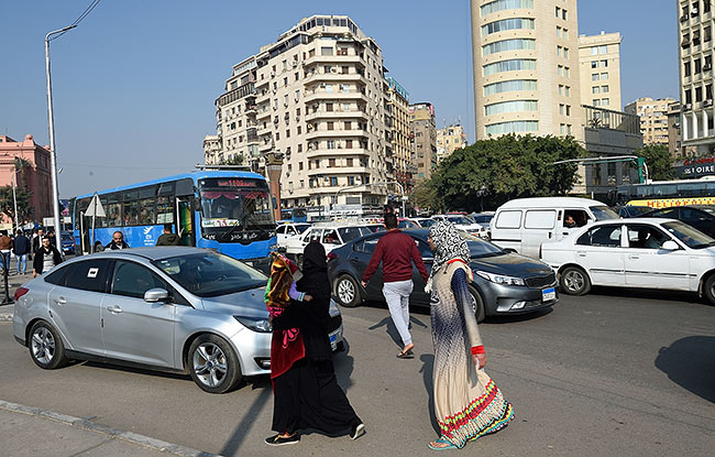 Cairo traffic   Copr. 2019 by Tim Adams All Rights Reserved