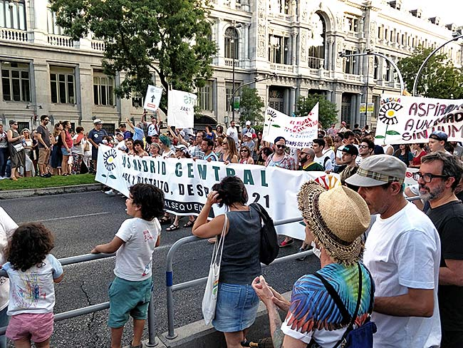 Madrid Central march, June 29, 2019