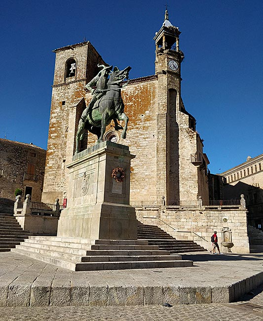 Plaza Mayor of Trujillo, Spain