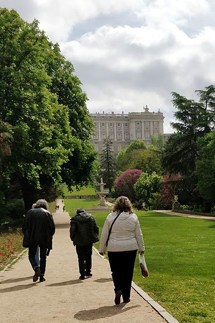 Campo del Moro in Madrid, Spain