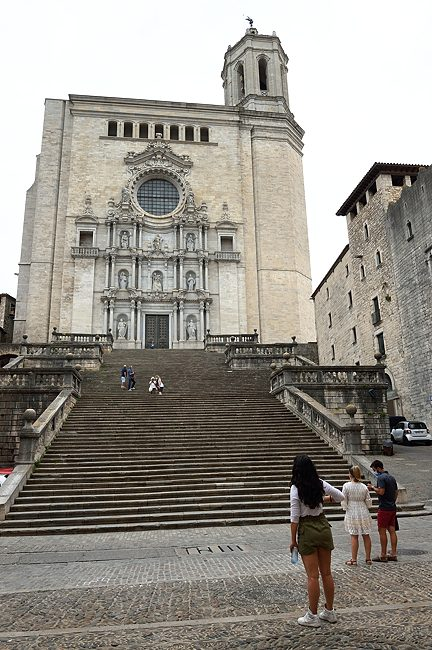 Cathedral steps in Girona, Spain | © 2021 Tim Adams, CC BY 2.0