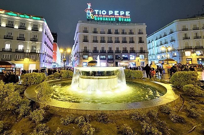 Tio Pepe sign in Puerta del Sol, Madrid, Spain